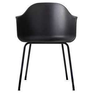 Harbour Dining Chair - Black, Black Steel Base