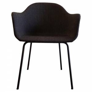 Harbour Dining Chair - Charcoal Fiord, Black Steel Base