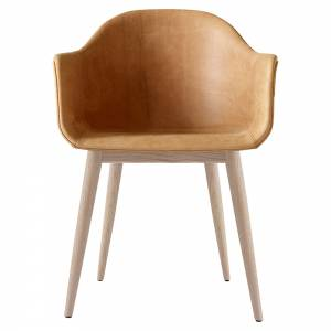Harbour Dining Chair - Cognac Dunes Leather, Natural Oak Base