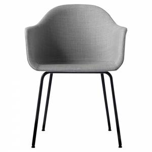 Harbour Dining Chair - Gray Remix 2, Black Steel Base