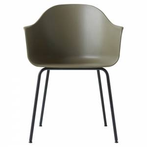Harbour Dining Chair - Green, Black Steel Base