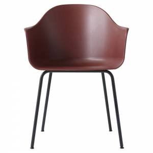 Harbour Dining Chair - Red, Black Steel Base