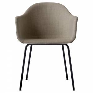 Harbour Dining Chair - Sandy Brown Remix 2, Black Steel Base