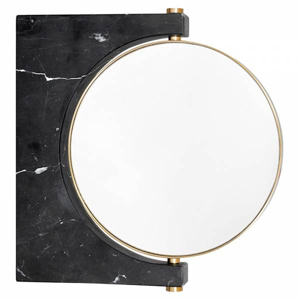 Pepe Wall Mirror - Gold, Black Marble