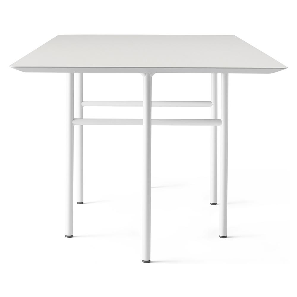 Snaregade Rectangular Dining Table Mushroom Linoleum Light Gray