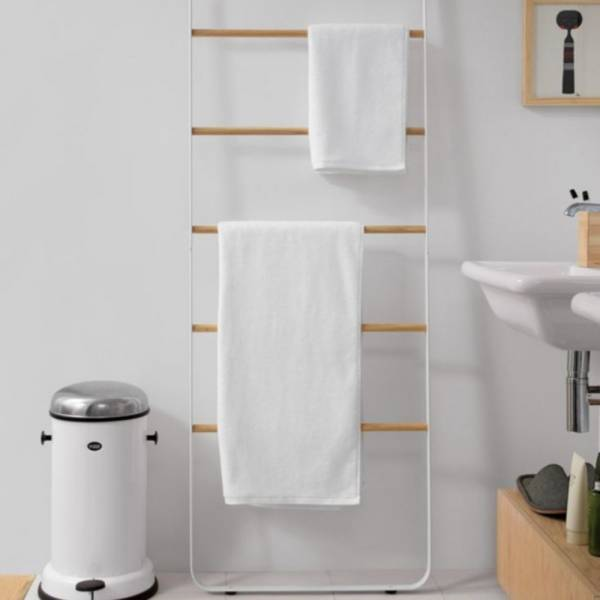 Towel Ladder - Light Ash, White