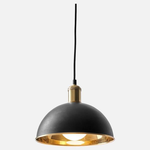 Tribeca Hubert Small Pendant - Black, Gold