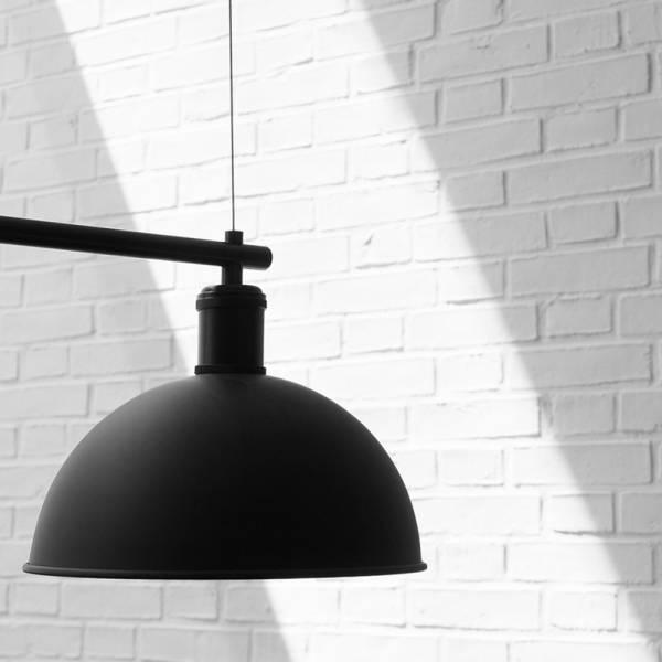 Tribeca Hubert Suspension Lamp - Black