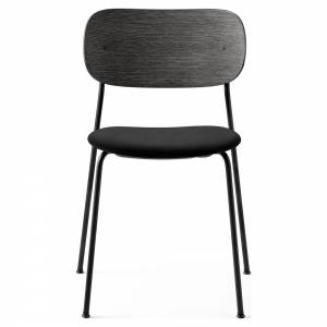 Co Dining Chair Upholstered Seat - Black Fabric, Black Oak