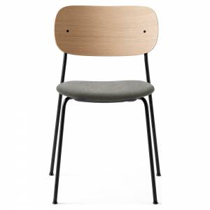 Co Dining Chair Upholstered Seat - Gray Hallingdal 130, Natural Oak