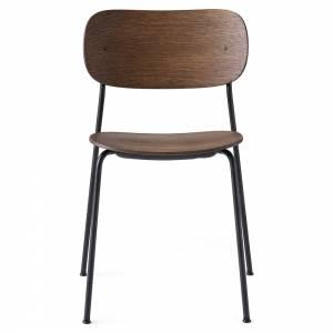 Co Dining Chair Wood Seat - Dark Oak, Black Base