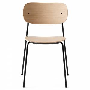 Co Dining Chair Wood Seat - Natural Oak, Black Base