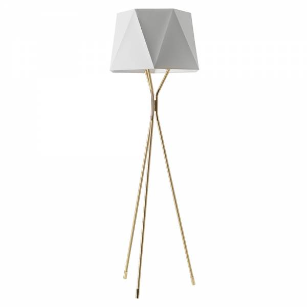 Solitaire Small Floor Lamp - Satin Brass, Polished Brass | Rouse Home