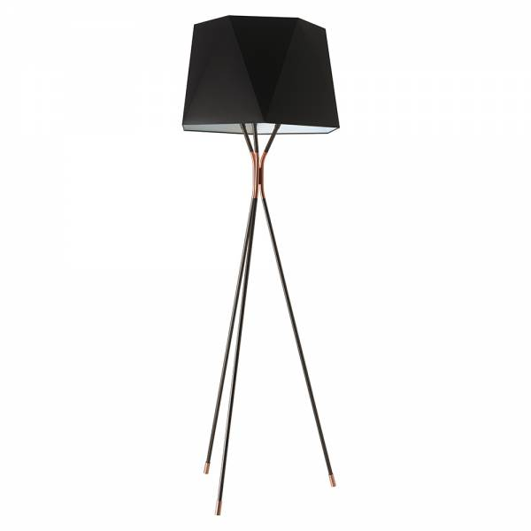 Solitaire Large Floor Lamp - Satin Graphite, Satin Copper | Rouse Home