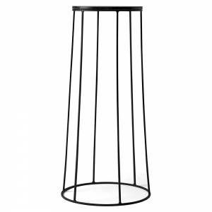 Wire Large Side Table - Black Marble, Black Base