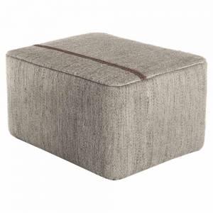 Mia Rectangular Pouf - Stone