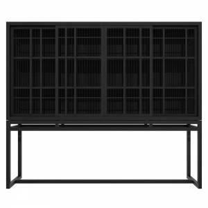 Burung 4 Doors Storage Cupboard - Black