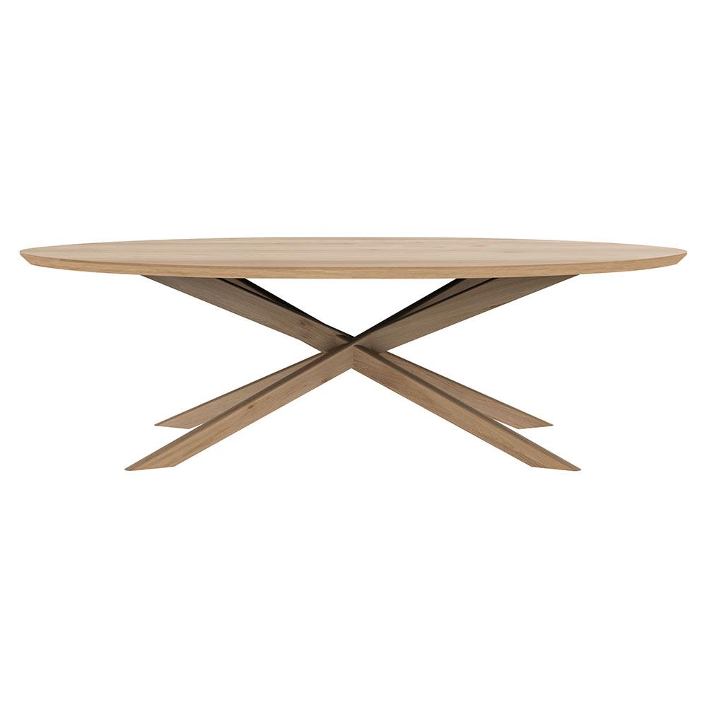 Wondrous Mikado Oval Coffee Table Oak Machost Co Dining Chair Design Ideas Machostcouk