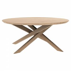 Mikado Round Coffee Table - Oak