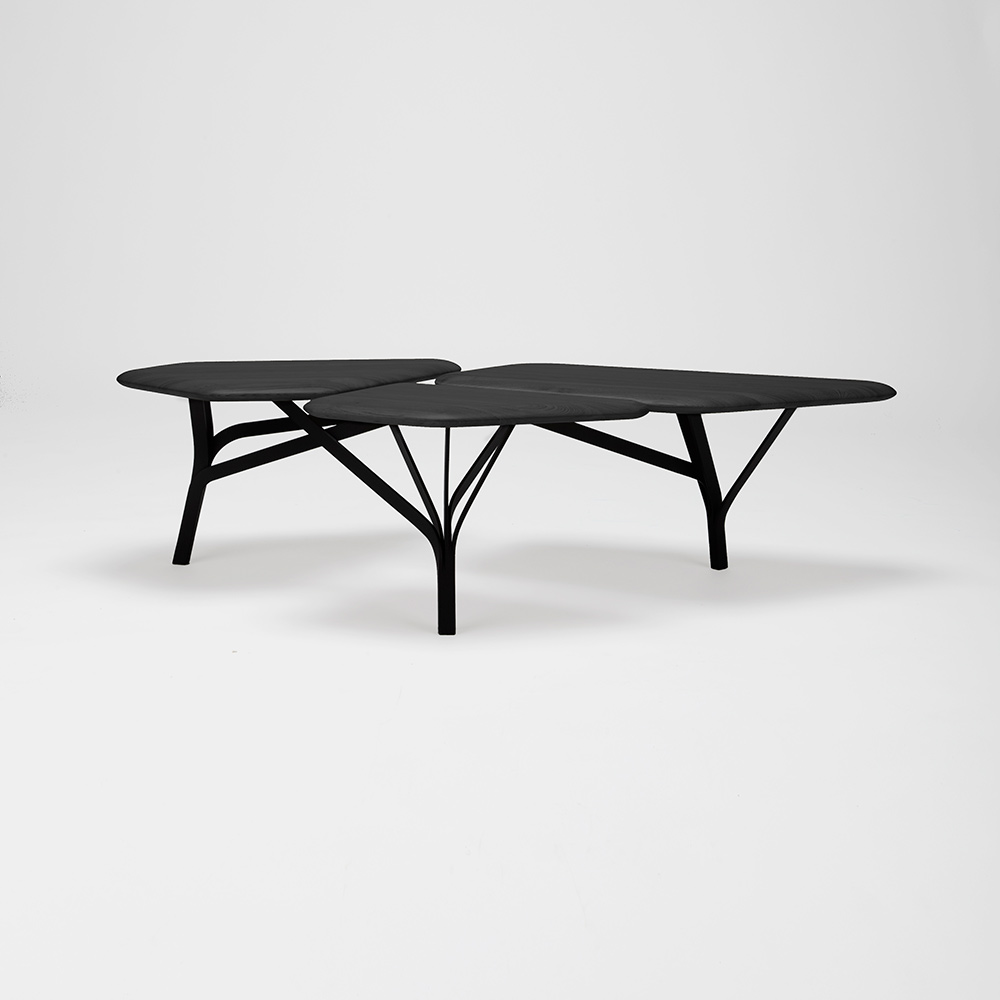 Incredible Borghese Coffee Table Black Oak Top Pabps2019 Chair Design Images Pabps2019Com