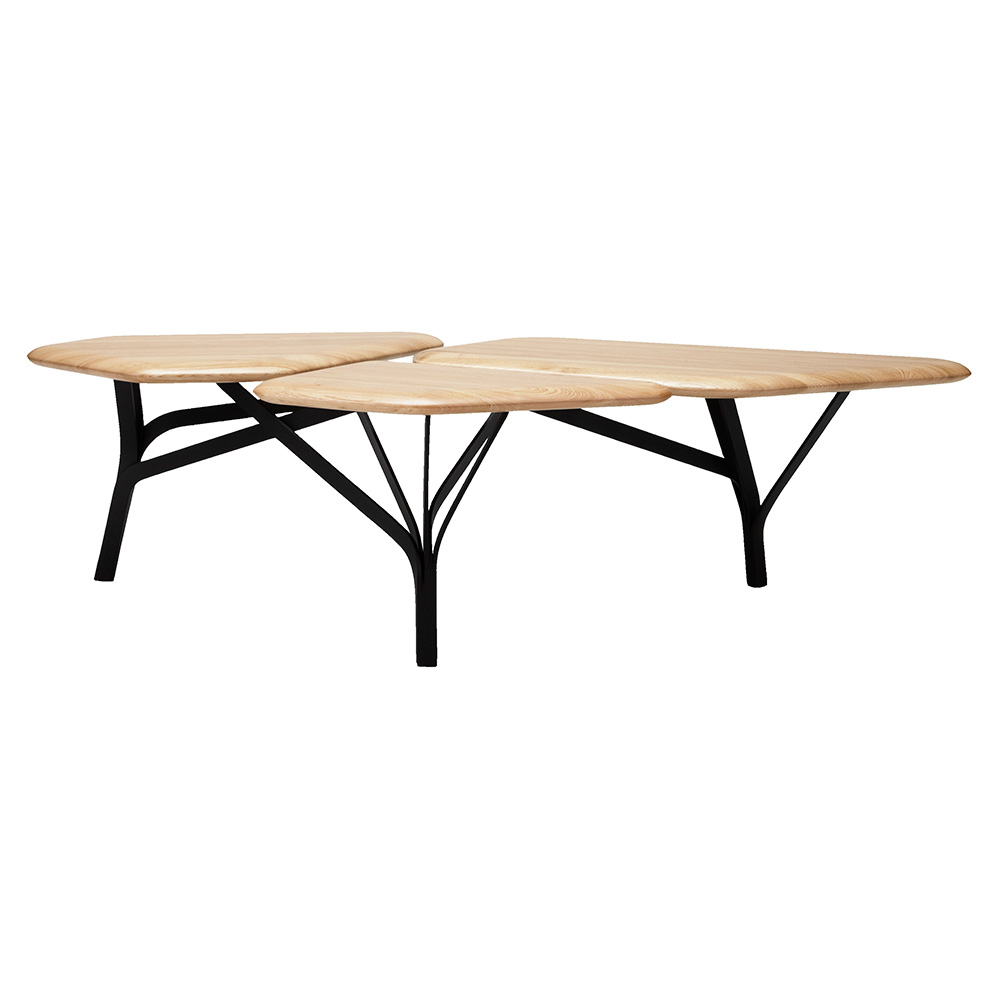 Terrific Borghese Coffee Table Natural Oak Top Pabps2019 Chair Design Images Pabps2019Com