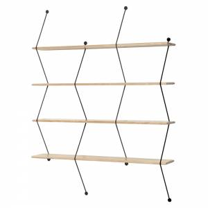 Climb Shelving System - Birch, Black