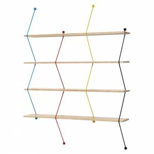 Climb Shelving System - Birch, Multicolor