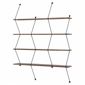 Climb Shelving System - Walnut, Black