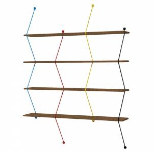 Climb Shelving System - Walnut, Multicolor