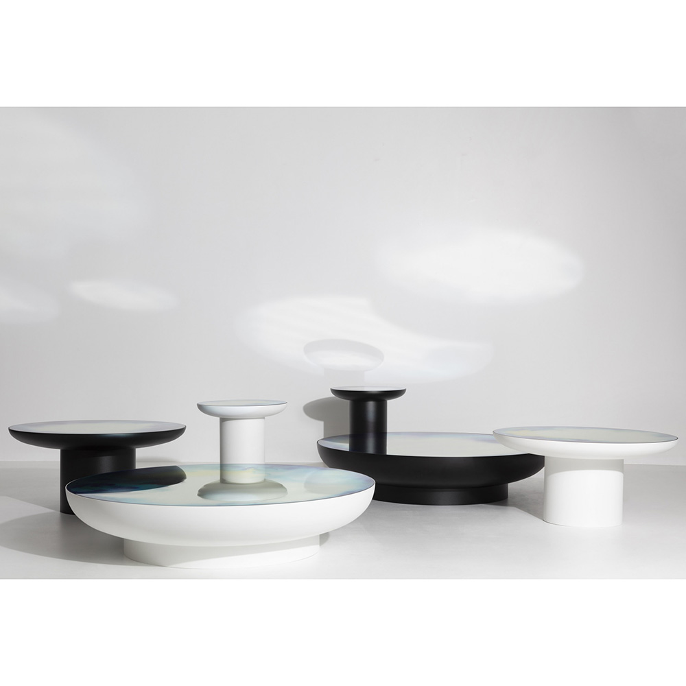 - Francis Large Round Mirror Coffee Table – White – Rouse Home