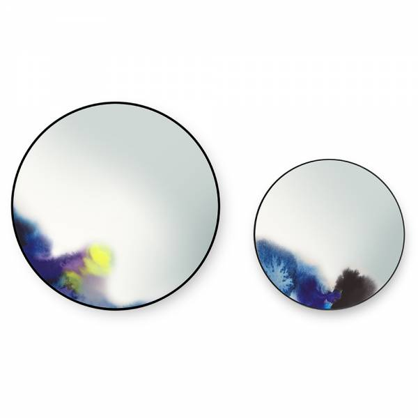 Francis Large Round Wall Mirror - Blue, Purple