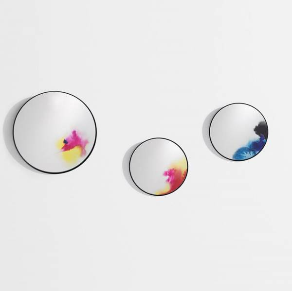 Francis Large Round Wall Mirror - Pink, Yellow