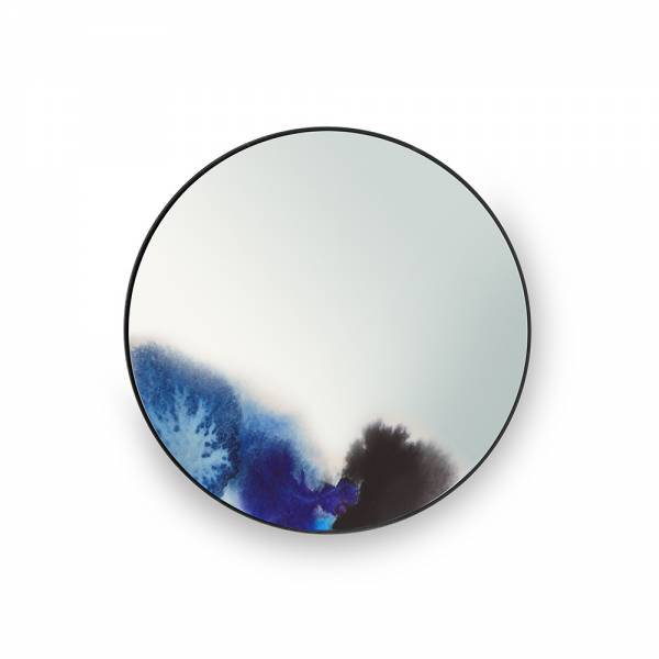 Francis Small Round Wall Mirror - Blue, Purple