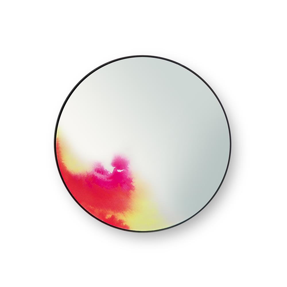 Francis Small Round Wall Mirror Pink Yellow