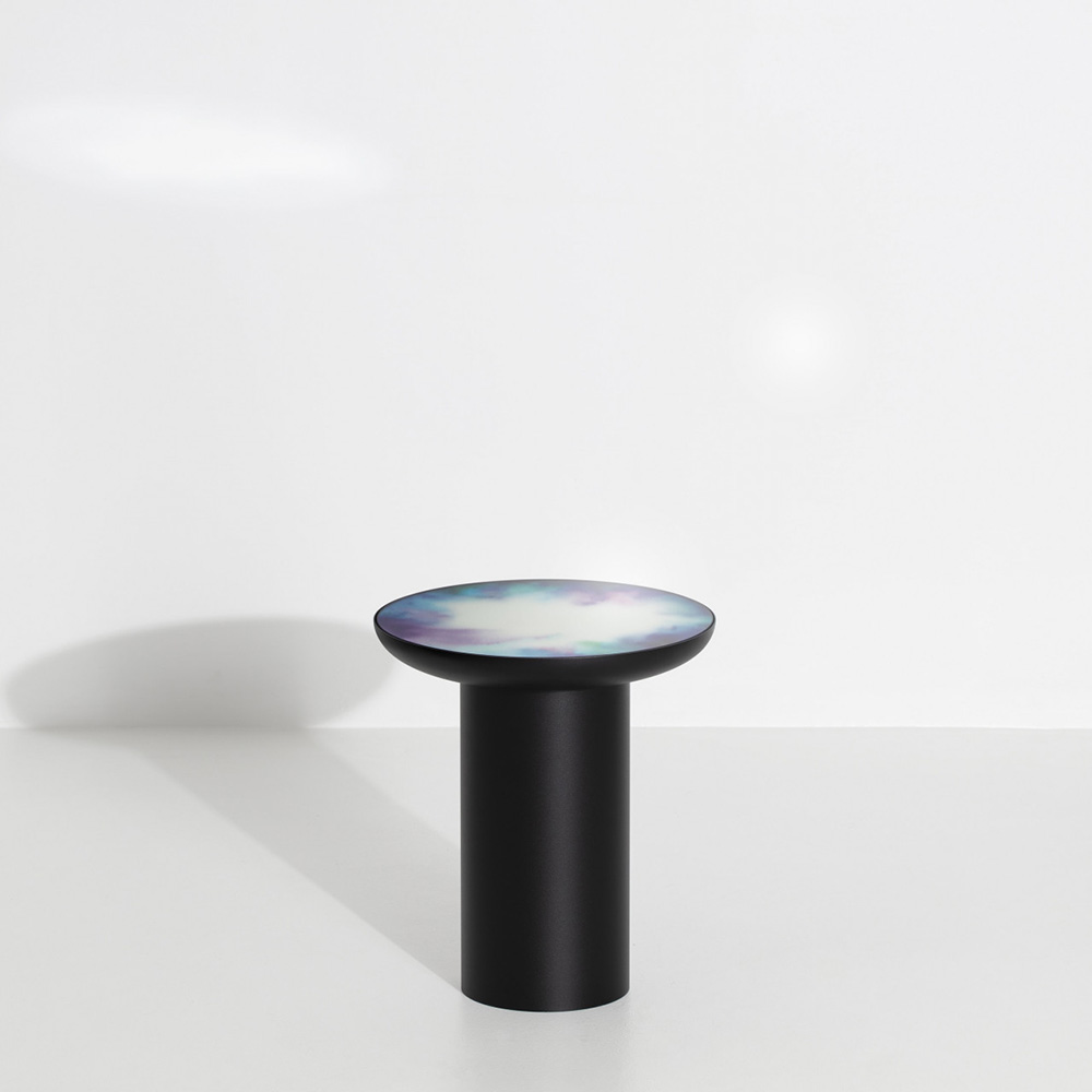 Francis Tall Round Mirror Table   Black