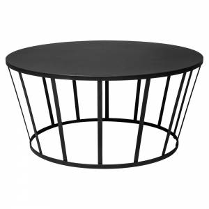 Hollo Round Coffee Table - Black
