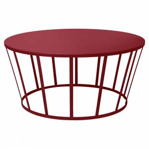 Hollo Round Coffee Table - Burgundy