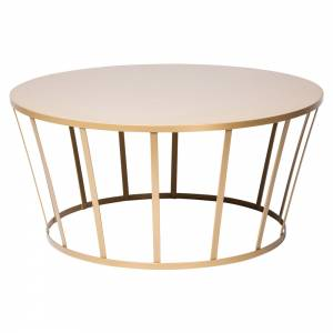Hollo Round Coffee Table - Gold