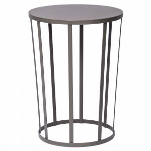 Hollo Round Side Table - Anthracite