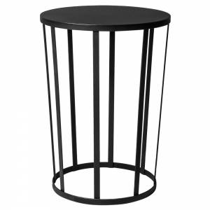 Hollo Round Side Table - Black