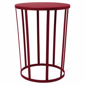 Hollo Round Side Table - Burgundy