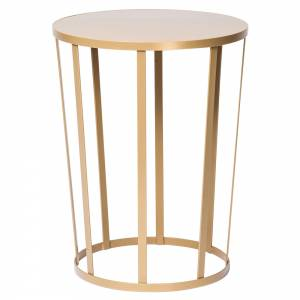 Hollo Round Side Table - Gold