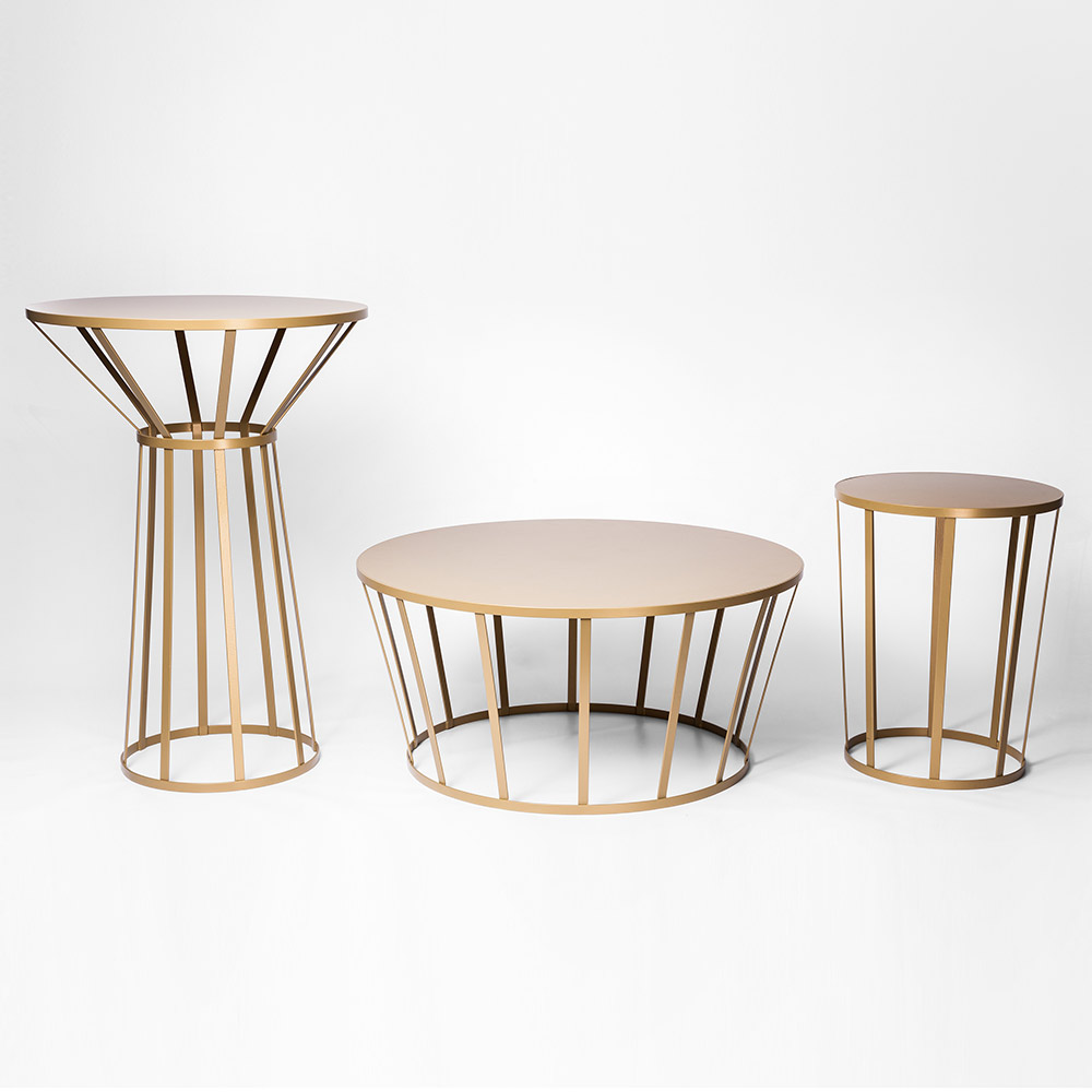 Hollo Round Side Table Gold