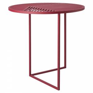 ISO-A Round Side Table - Burgundy