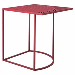 ISO-B Square Side Table - Burgundy