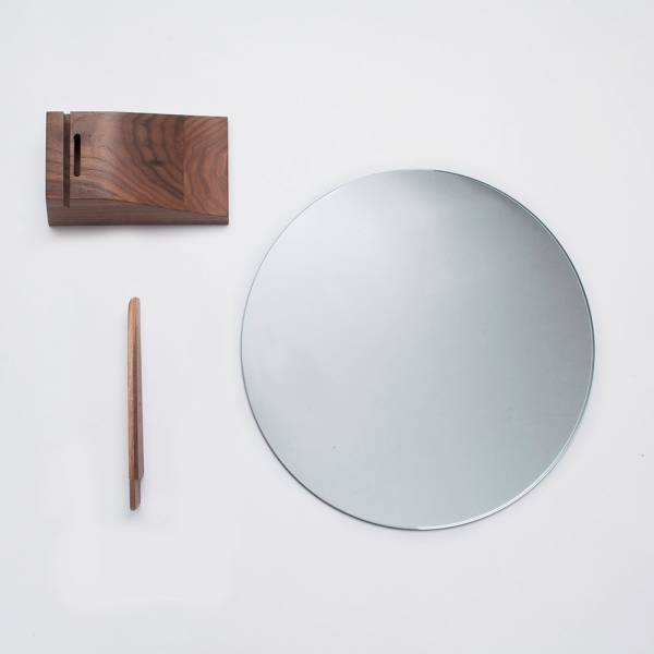 Lalou Mirror - Walnut Base