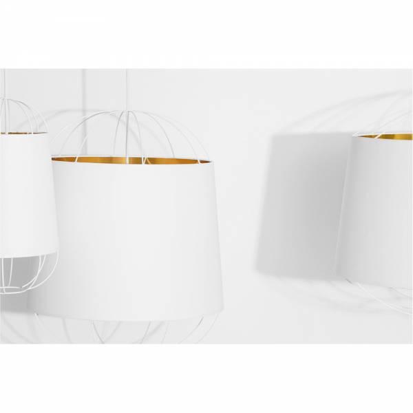 Lanterna Large Pendant - White, Gold