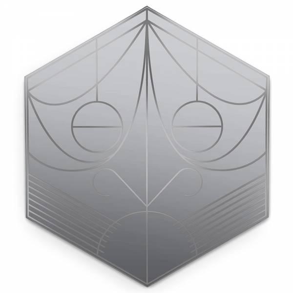 Mask Hexagon Wall Mirror - Lead