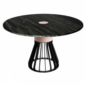 Mewoma Dining Table - Black Marble Top