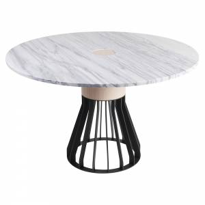 Mewoma Dining Table - White Marble Top